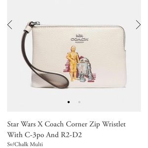 NWT Coach X Star Wars C3PO & R2D2 Wristlet